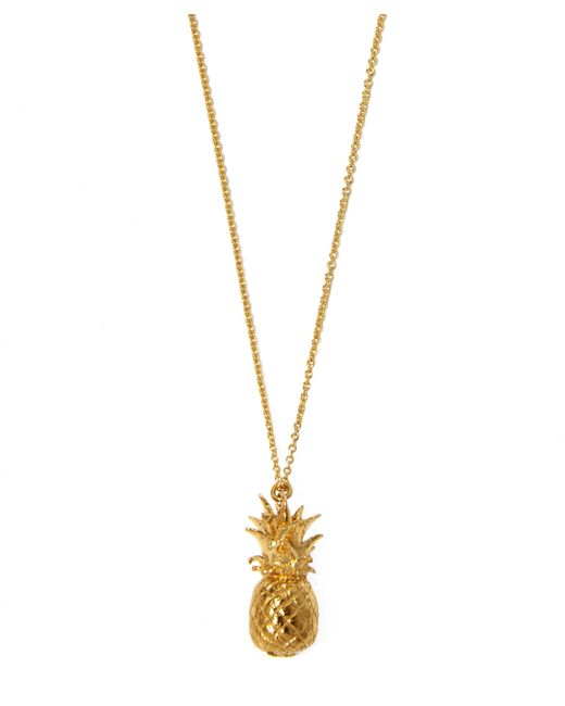 Alex Monroe - Metallic Gold-plated Pineapple Necklace - Lyst