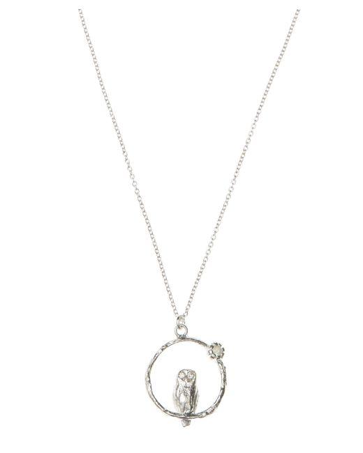 Alex Monroe - Metallic Silver Owl Moonstone Necklace - Lyst