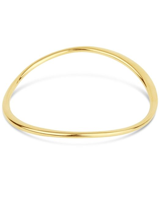 Dinny Hall - Metallic Gold-plated Wave Bangle - Lyst