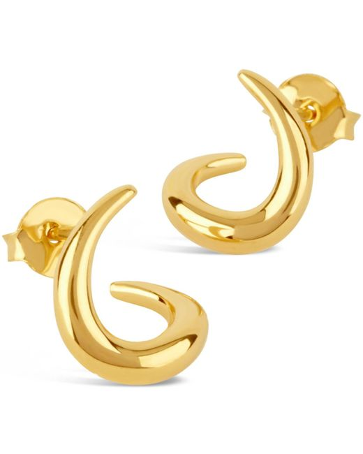 Dinny Hall - Metallic Small Gold-plated Toro Twist Stud Earrings - Lyst