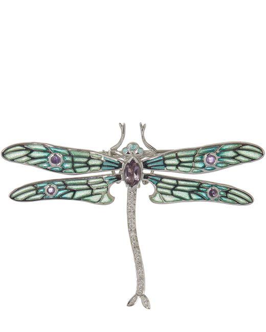 Kojis - Metallic Silver Dragonfly Brooch - Lyst