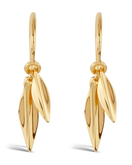 Dinny Hall - Metallic Gold-plated Double Leaf Drop Earrings - Lyst