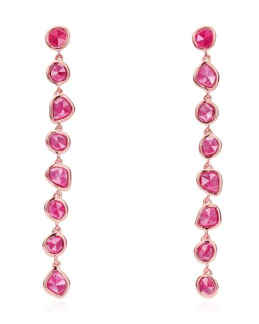 Monica Vinader - Multicolor Rose Gold Vermeil Pink Quartz Siren Mini Nugget Cocktail Earrings - Lyst