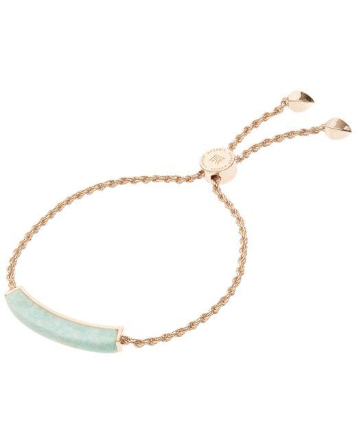 Monica Vinader | Metallic Rose Gold-plated Linear Amazonite Stone Bracelet | Lyst