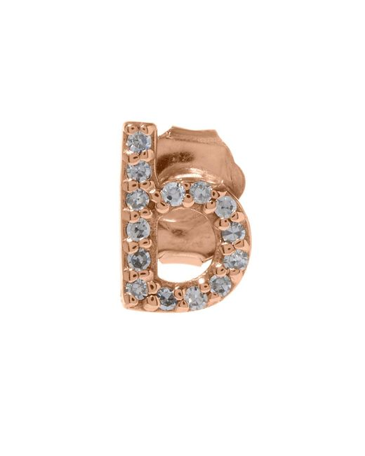 KC Designs - Multicolor Rose Gold Diamond B Single Stud Earring - Lyst