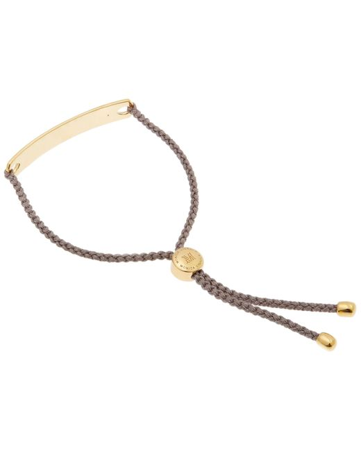 Havana Friendship Bracelet- Mink, Rose Gold Vermeil on Silver Monica Vinader