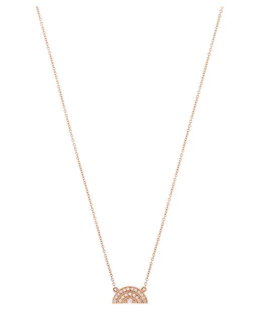 Andrea Fohrman - Metallic Rose Gold White Diamond Half Moon Rainbow Necklace - Lyst