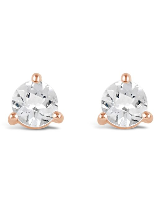 Dinny Hall Metallic Rose Gold-plated Gem Drops White Topaz Round Stud Earrings