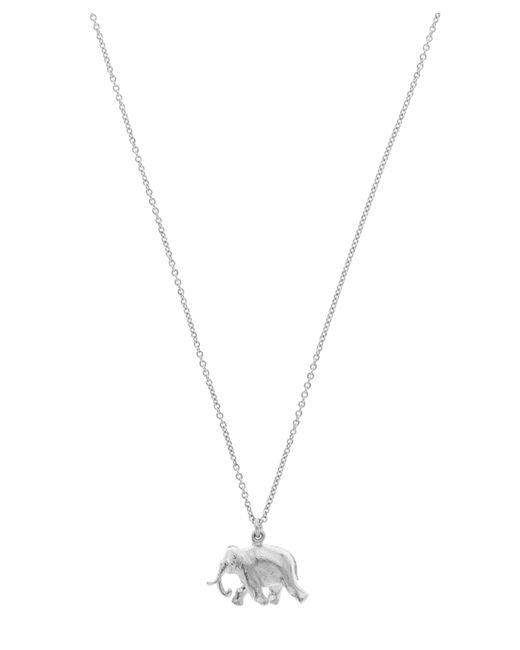 Alex Monroe - Metallic Sterling Silver Indian Elephant Pendant Necklace - Lyst