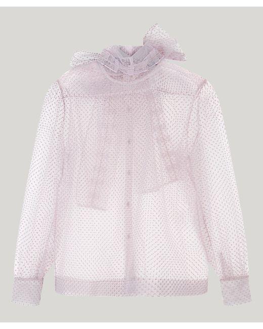 AlexaChung - Pink Polka Dot Tulle Blouse - Lyst