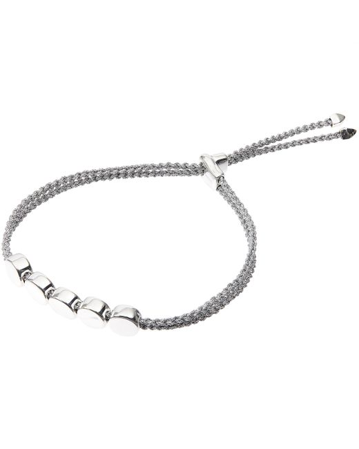 Monica Vinader | Metallic Linear Bead Friendship Bracelet | Lyst