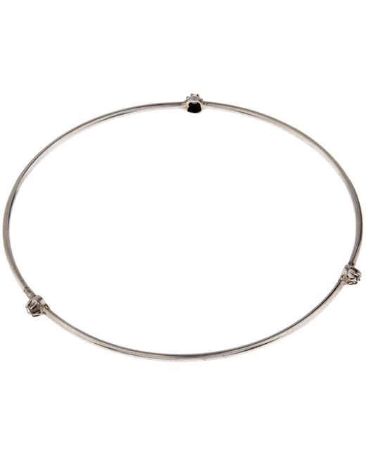 Annina Vogel | Metallic Silver Triple Stud Bangle | Lyst