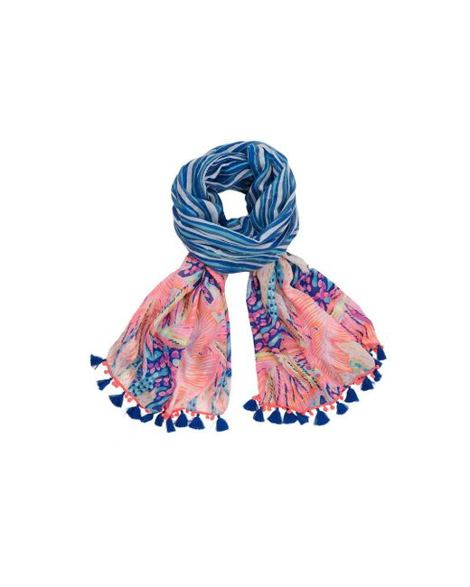 Lilly Pulitzer | Blue Palm Breeze Wrap | Lyst