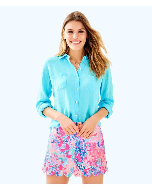 Lilly Pulitzer - Multicolor Colette Scallop Hem Skort - Lyst