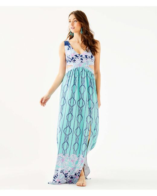 7c79e09fea7d2c Lilly Pulitzer - Blue Marcia Maxi Dress - Lyst ...
