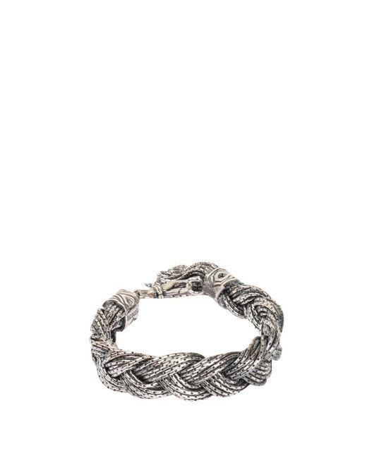 Emanuele Bicocchi - Metallic Swarovski Crystal Bracelet for Men - Lyst