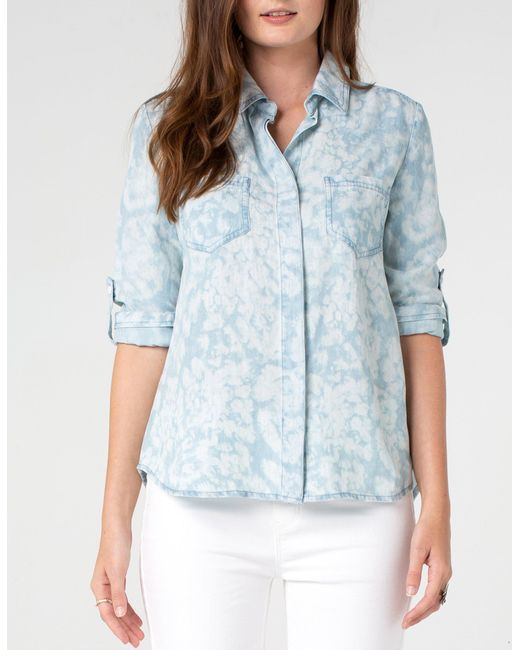 348d4d488ee ... Liverpool Jeans Company - Blue Button Back Shirt - Lyst ...
