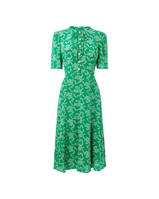 L.K.Bennett - Montana Green Dress - Lyst