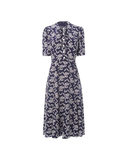 L.K.Bennett - Blue Montana Navy Dress - Lyst