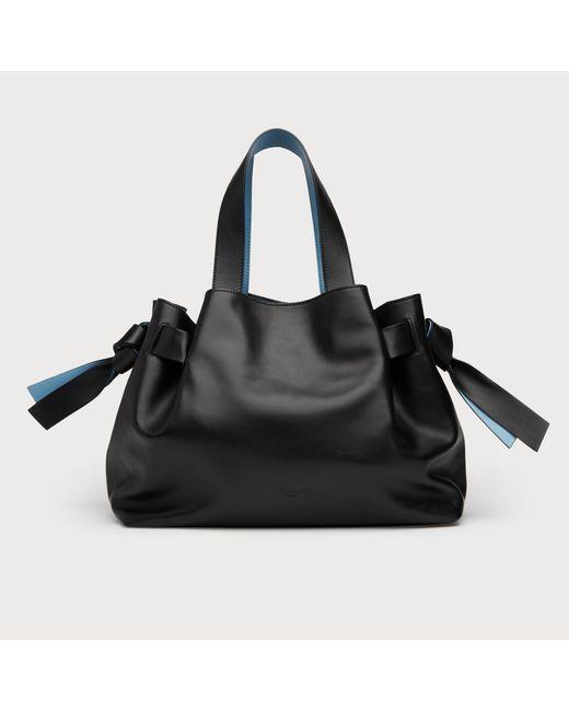 8aae6d43f52c Lyst - L.K.Bennett Geraldine Black Leather Tote Bag in Black