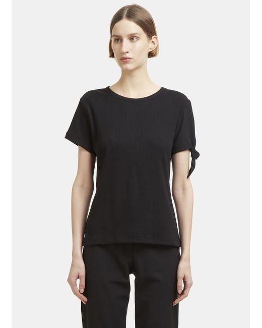 J.W. Anderson - Black Knot Cotton T-shirt - Lyst