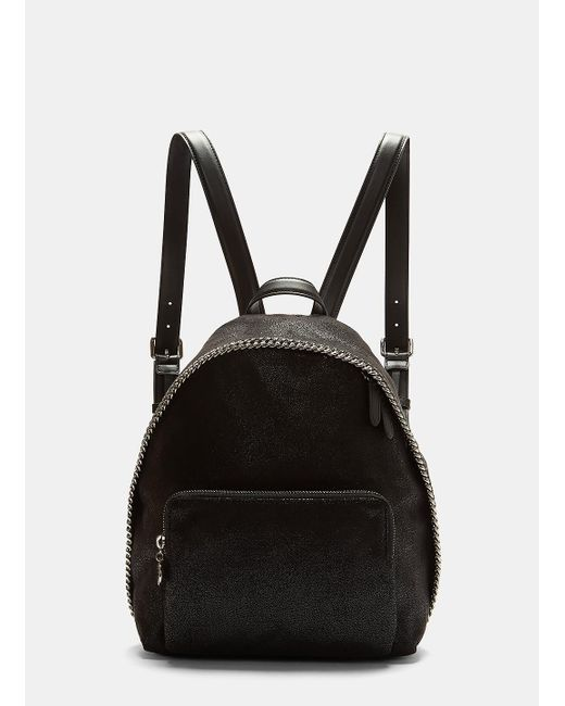 Stella McCartney - Falabella Shaggy Deer Backpack In Black - Lyst