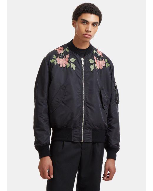 Gucci. Velvet Embroidered Bomber Jacket