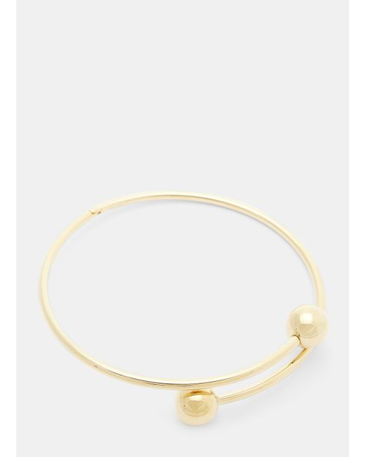 J.W. Anderson - Metallic Pierce Choker In Gold - Lyst