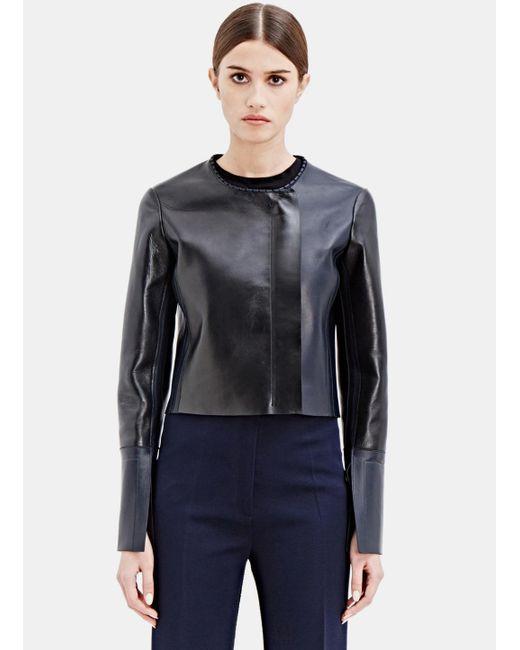 Calvin Klein   Women's Cepin Leather Jacket From Ss15 In Black   Lyst