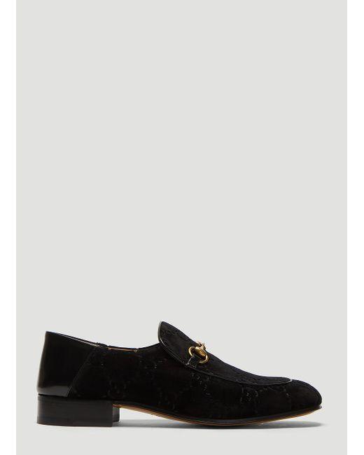 576ed5a9c7b Gucci GG Velvet Fold Loafer In Black in Black for Men - Lyst