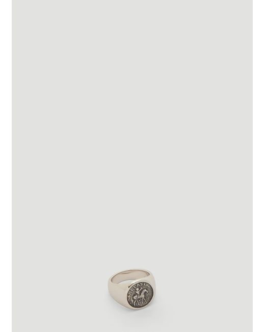 Tom Wood Metallic Coin Ring In Silver for men