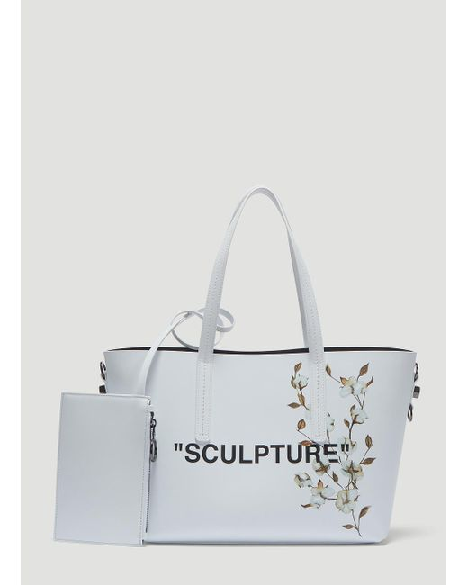 Lyst - Off-White c o Virgil Abloh Flower Sculpture Tote Bag In White ... b26a376ef1b95