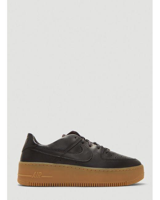 Nike Air Force 1 Sage Low Lx Sneakers In Black In Black Lyst