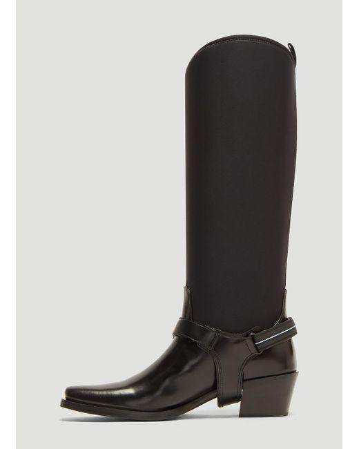 Neoprene Black in Black Spazzolato In Lyst Prada Boots vOERqPn