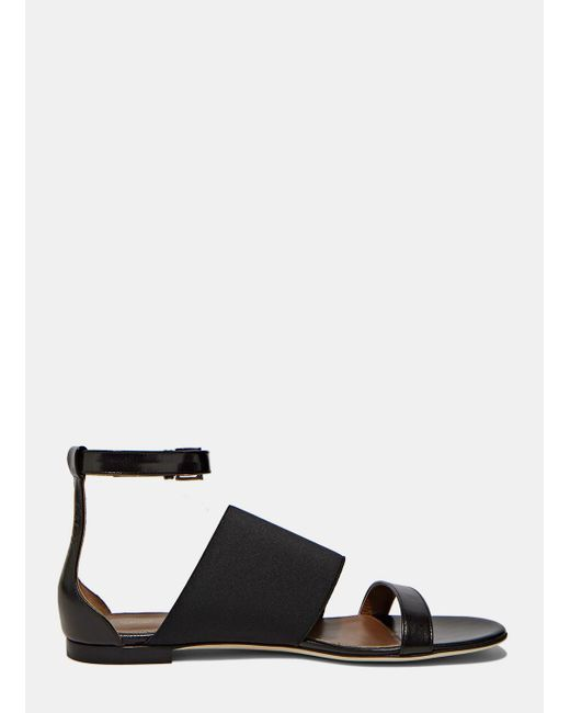 Agnona | Women's Leather Wrap Sandals In Black | Lyst