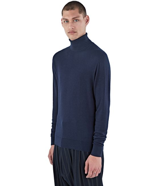 c7b5d794c ... Ribbed Sweater Men  Aiezen Men s Ribbed Roll Neck Sweater In Navy In  Blue For