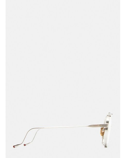 lyst jacques marie mage victorio round frame sunglasses in silver Ray Ban Rb3445 jacques marie mage metallic victorio round frame sunglasses in silver for men lyst
