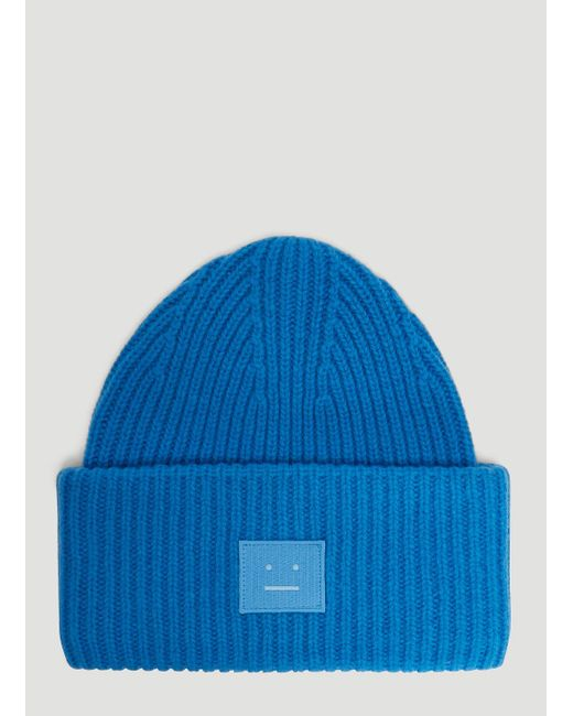fe624e0238d Lyst - Acne Studios Pansy N Face Knit Hat In Blue in Blue