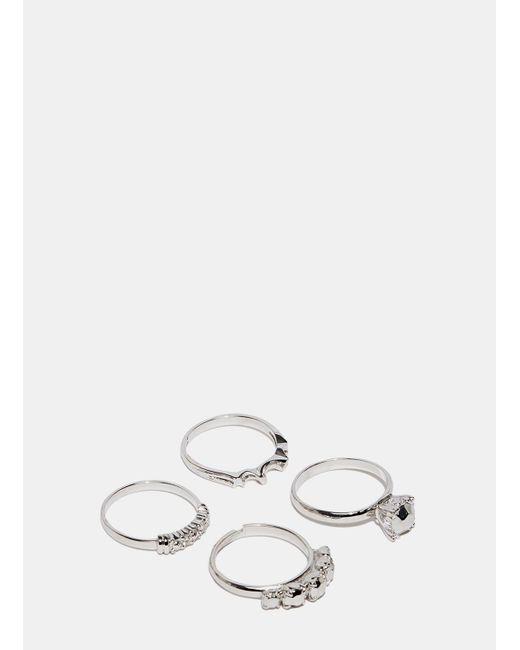 Lauren Klassen | Metallic Women's Silver Flea Market Ring Set From Ss15 In Silver | Lyst