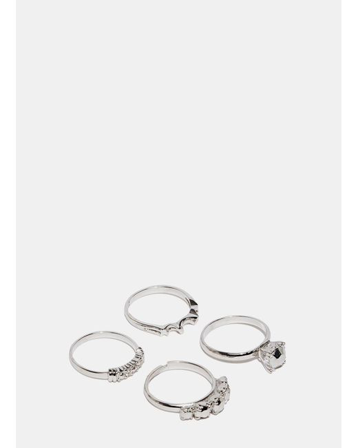 Lauren Klassen | Metallic Women's Silver Flea Market Ring Set From Ss15 In Silver | Lyst