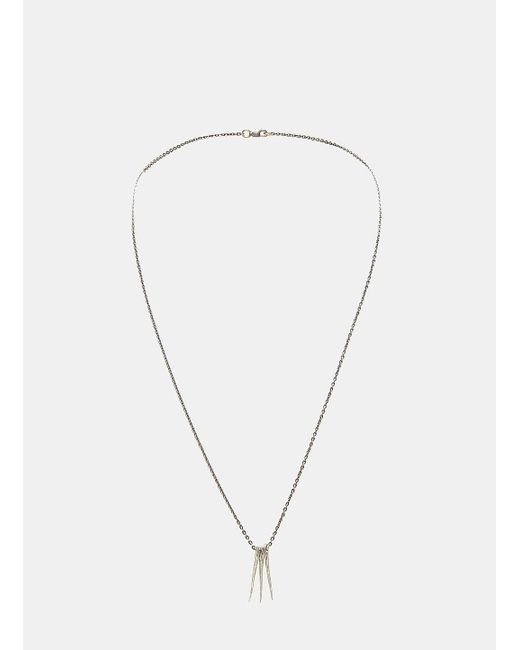 Pearls Before Swine   Metallic Small Triple Thorn Pendant Necklace In Silver   Lyst