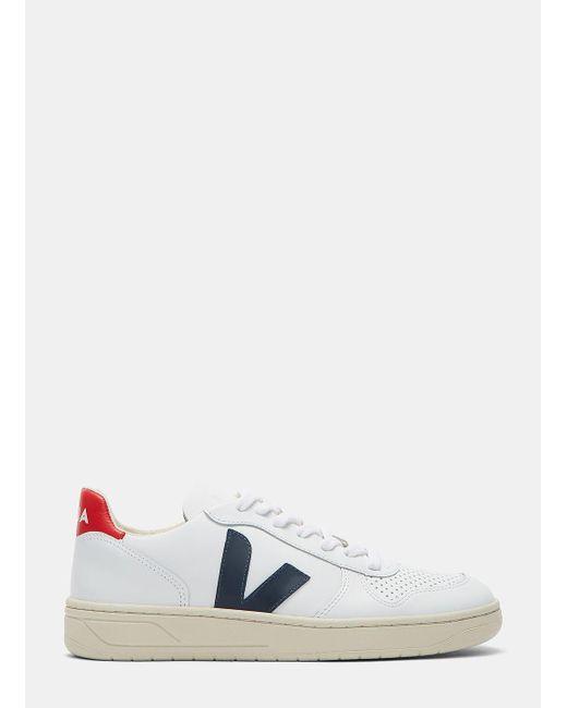 Veja   Men's V-10 Mid-top Nautico Sneakers In White for Men   Lyst