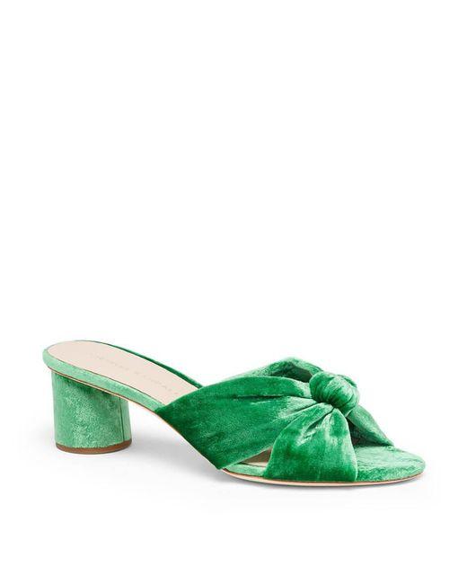 Loeffler Randall - Green Celeste Knotted Velvet Mules - Lyst