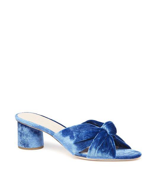 Loeffler Randall - Blue Celeste Mid Heel Knot Slide - Lyst