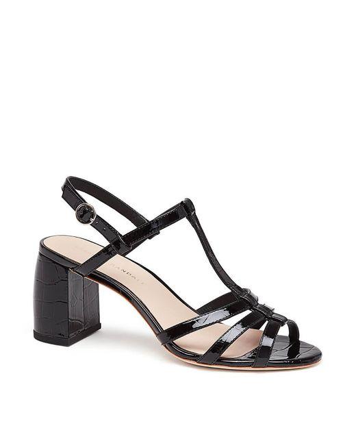 Loeffler Randall - Black Elena Strappy Leather Slingback Sandals - Lyst