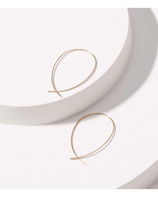 LOFT - Metallic Sculptural Hoop Earrings - Lyst