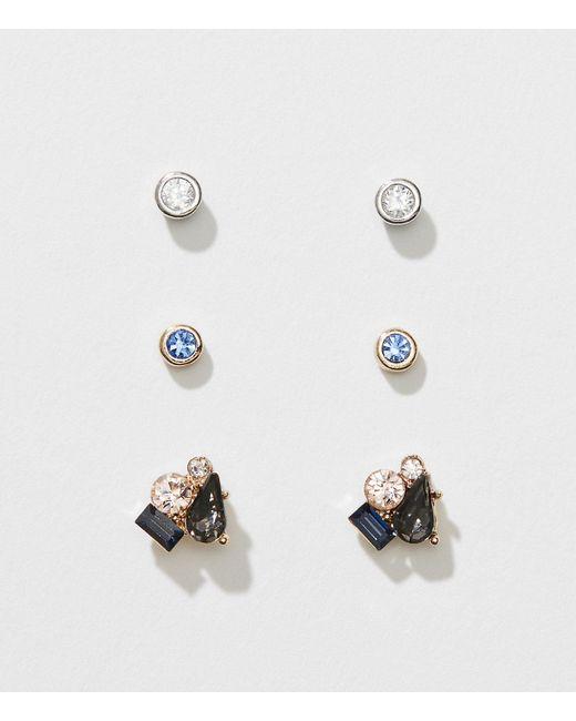 LOFT | Metallic Cluster Crystal Stud Earring Set | Lyst
