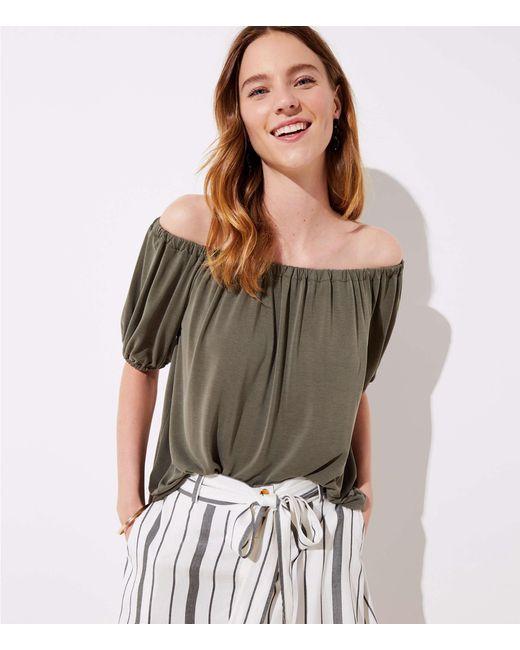 LOFT - Multicolor Sandwashed Short Sleeve Top - Lyst