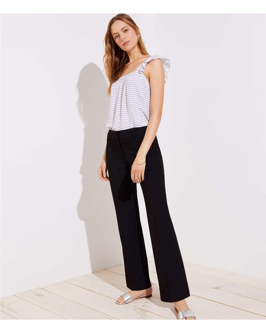 LOFT - Black Trousers In Custom Stretch In Julie Fit - Lyst