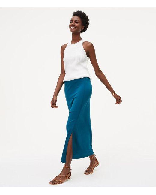 LOFT | Blue Seamed Maxi Skirt | Lyst